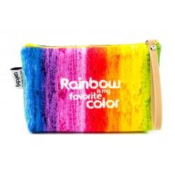 کیف لوازم آرایش رنگین کمان
