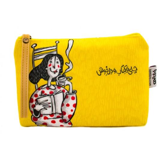 کیف دستی چای و کتاب