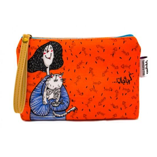 کیف لوازم آرایش گربه جان