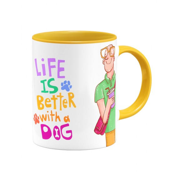 ماگ Life is better with a dog