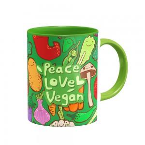 ماگ Peace, Love, Vegan
