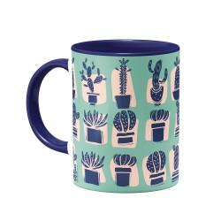 ماگ cactus garden سبزآبی