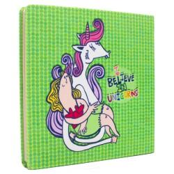 دفتر مربعی  I believe in unicorns