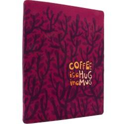دفتر کلاسوری پارچه ای  Coffee is a Hug in a mug